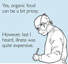 Organic Food pricey but so is illness
