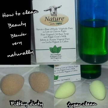 Beauty Blender natural way to clean