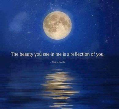 Beauty seen is a reflection of you